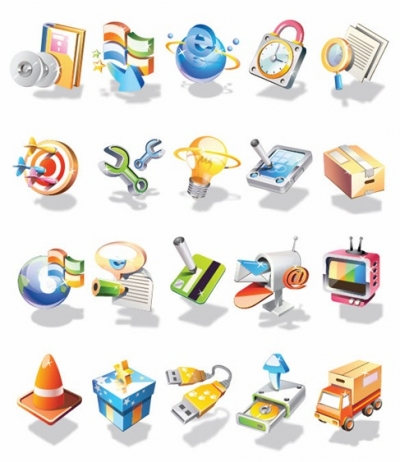 Vector 3D Icon Set