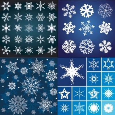 Free vector Vector pattern  a variety of beautiful snowflake pattern vector