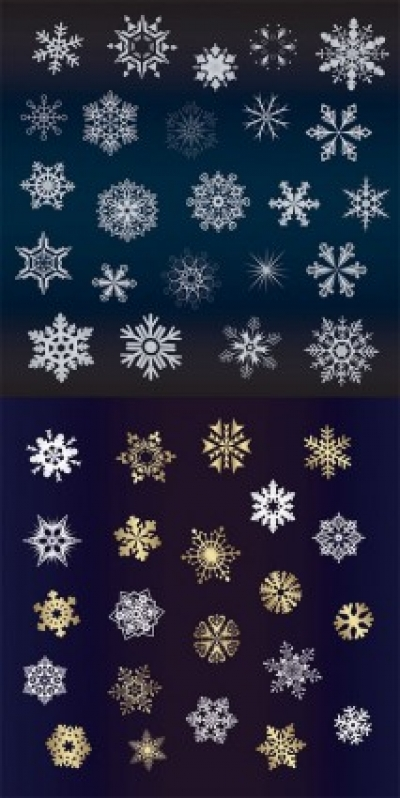 Free vector Vector misc  a variety of beautiful snowflakes vector