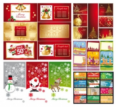 Free vector Vector background  a variety of christmas background vector greeting cards