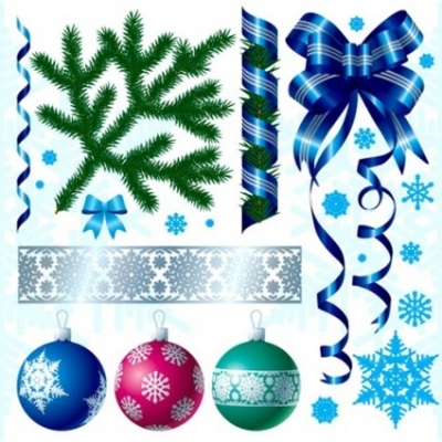 Free vector Vector Christmas  A Variety of Christmas Decorations Vector Material