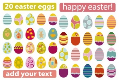 Free vector Vector misc  a variety of easter eggs vector