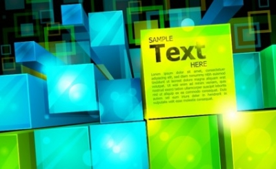 Free vector Vector abstract  Abstract 3D Square Background
