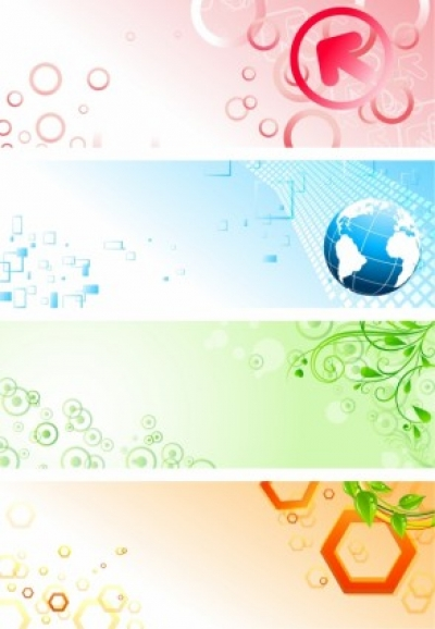 Free vector Vector banner  Abstract and colourful banners