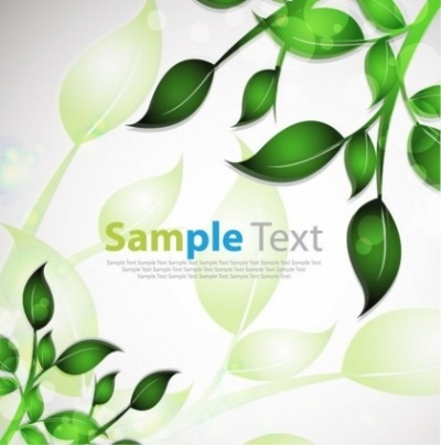 Free vector Vector abstract  Abstract Background with Leafs