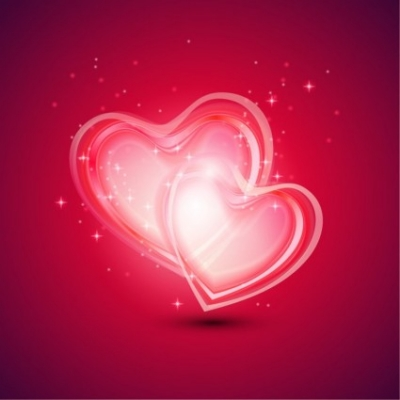 Free vector Vector abstract  Abstract Background with Two Hearts for Valentines Day