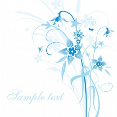 Free vector Vector floral  Abstract Blue Floral Vector Illustration
