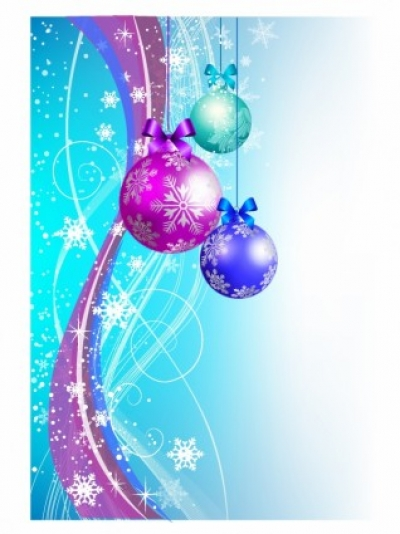 Free vector Vector Christmas  Abstract Christmas Background with Ornaments
