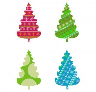 Free vector Vector abstract  Abstract Christmas Tree Vector Graphics