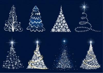 Free vector Vector abstract  Abstract Christmas Tree Vector Set