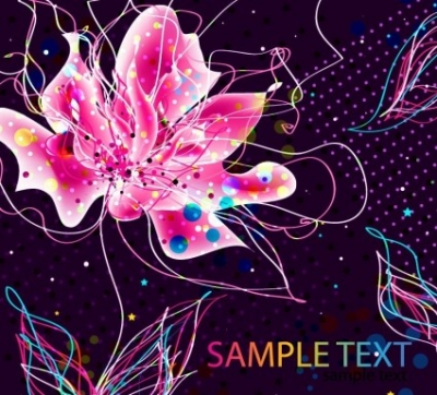 Free vector Vector floral  Abstract Colorful Floral Background