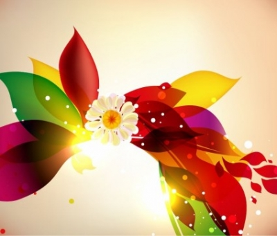 Free vector Vector floral  Abstract Colorful Floral Design Vector Background