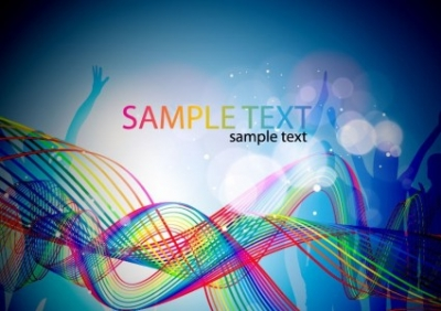 Free vector Vector abstract  Abstract Colorful Music Background Vector Illustration