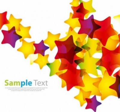 Free vector Vector abstract  Abstract Colorful Stars Vector Background