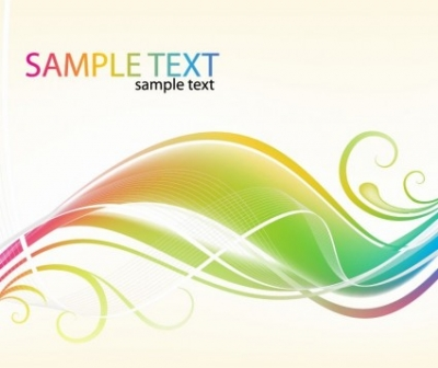 Free vector Vector abstract  Abstract Colorful Swirl Waves Vector Background