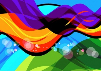 Free vector Vector abstract  Abstract Colorful Wave Art Vector
