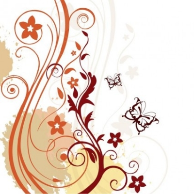 Free vector Vector floral  Abstract Floral Background