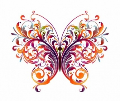Free vector Vector flower  Abstract Floral Butterfly Vector Graphic