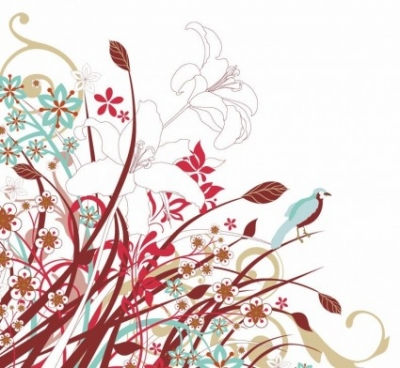 Free vector Vector flower  Abstract Floral Flowers Vector Graphic