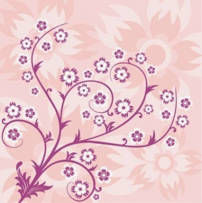 Free vector Vector floral  Abstract Floral Pink Background