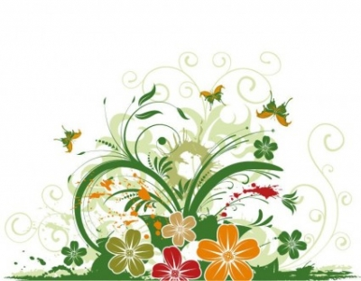 Free vector Vector abstract  Abstract Floral with Butterfly Background Vector Illustration