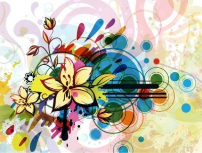 Free vector Vector flower  Abstract Flower Background Vector