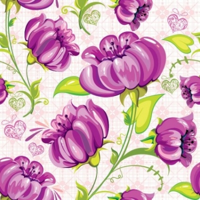 Free vector Vector abstract  Abstract Flowers Seamless Background Vector
