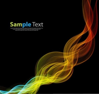 Free vector Vector abstract  Abstract Glowing Lines of Light with Rainbow Colors Vector Background
