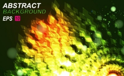 Free vector Vector abstract  Abstract Green Background