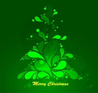 Free vector Vector abstract  Abstract Green Christmas Tree Vector Graphic