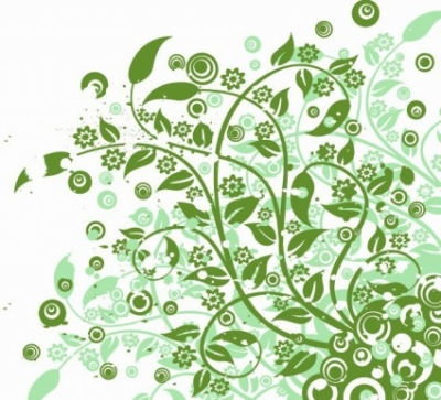 Free vector Vector abstract  Abstract Green Floral Vector Graphic Art