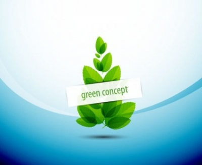 Free vector Vector abstract  abstract green leaf background 05 vector