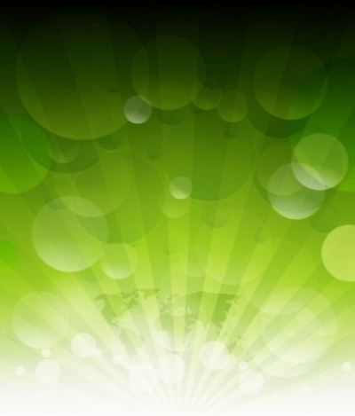 Free vector Vector abstract  Abstract Green Rays Vector Background