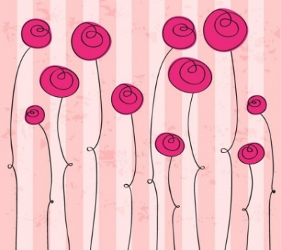 Free vector Vector flower  Abstract Hand drawn Romantic Flowers Vector Graphic