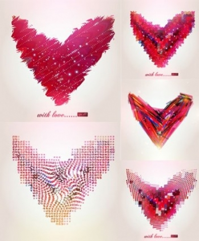 Free vector Vector abstract  abstract heart-shaped pattern vector