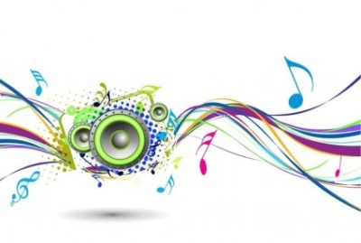 Free vector Vector abstract  Abstract Rainbow Wave with Music Node Background