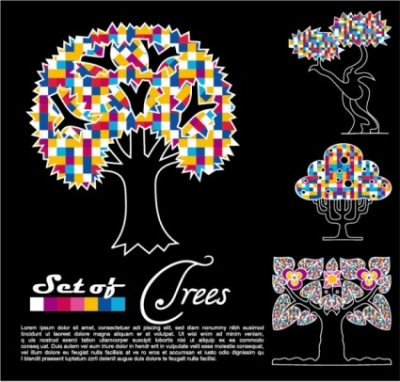 Free vector Vector abstract  abstract trees vector 03 vector