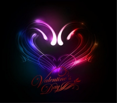 Free vector Vector abstract  Abstract Valentine's Day Colorful Heart Background