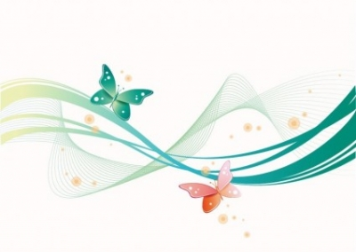 Free vector Vector abstract  Abstract Wave with Butterfly Background