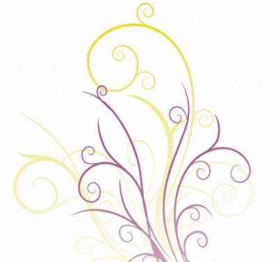 Free vector Vector floral  Abstraction with Floral Swirls Vector Graphic