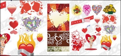 Free vector Vector Heart  Accommodates love and heart-shaped vector material