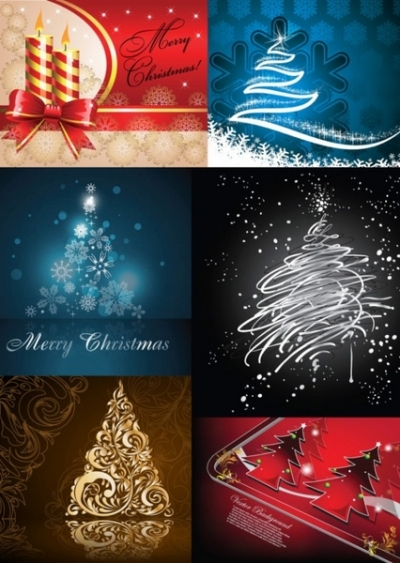 Free vector Vector Christmas  all kinds of christmas tree vector