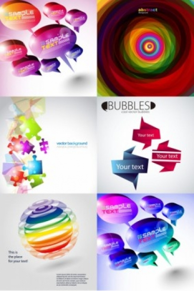 Free vector Vector background  and threedimensional shape of the colorful background vector