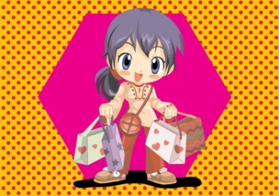 Free vector Vector people  Anime Shopping Girl Vector