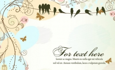 Free vector Vector floral  Antique Floral Template