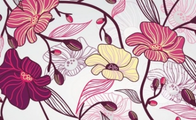 Free vector Vector flower  Artistic Background With Flowers