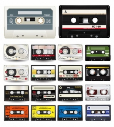Free vector Vector misc  Audio Cassettes Vector Collection