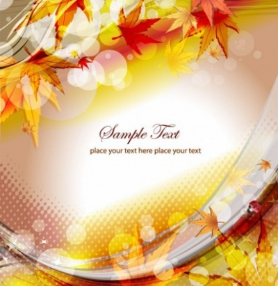 Free vector Vector background  Autumn Floral Background Vector Illustration