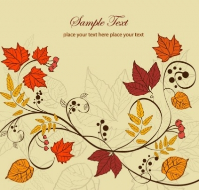 Free vector Vector background  Autumn Leaves Background Vector Illustration