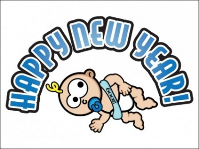 Free vector Vector people   								Baby New Year